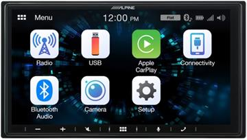 Alpine iLX-W650BT Autoradio med Apple CarPlay og Android Auto forside/front